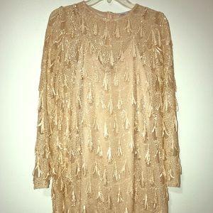 Zara Pale Pink Sequin Dress